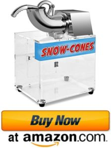 Commercial snow cone machine ice crusher