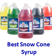 Best snow cone syrups tasting