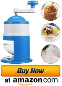 Handhold manual snow cone maker