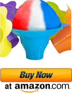 best snow cone cups and straws