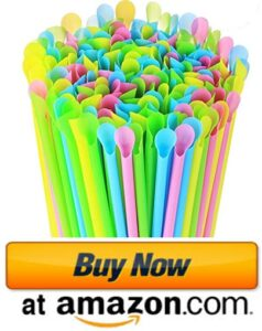Plastic Snow cone spoon straws 2021