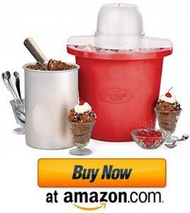 Nostalgia ICMP4RD 4-Quart Bucket Electric Ice Cream Maker