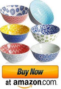 Amazingware Porcelain Bowls - 10 Ounce for Ice Cream Dessert bowls