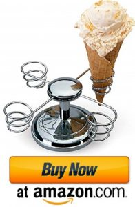 Ice Cream Four Holder with Weighted Base and Rotating Arms