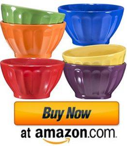 Ceramic Groove ice cream Bowls - Cereal, Soup, Ice Cream