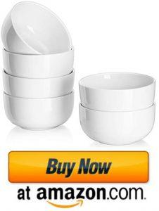 DOWAN 10 Ounces Porcelain Bowls Set
