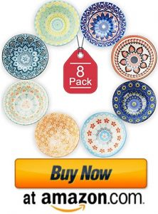 Farielyn-X 8 Pack Small Ceramic Bowls for ice cream