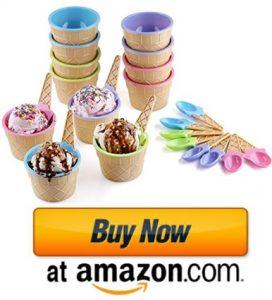 Ice Cream Dessert Bowls and Spoons