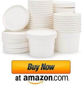 Half Pint Containers with Lids, Eusoar 8oz Ice Cream Freezer Containers